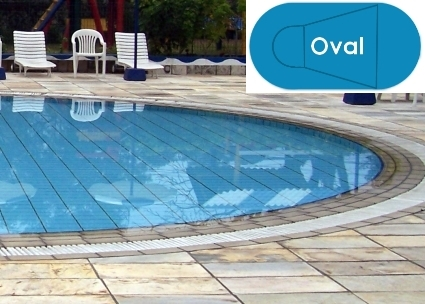 Complete 18\'x36\' Oval In Ground Swimming Pool Kit with Wood ...