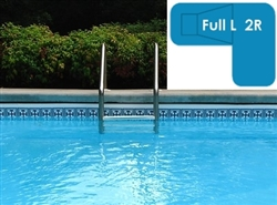Complete 18x38x26 Full L 2R In Ground Swimming Pool Kit with Polymer Supports