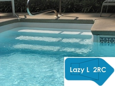 Complete 18\'x43\' Lazy L 2RC InGround Swimming Pool Kit with Wood Supports