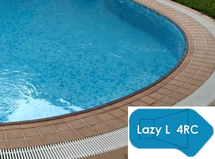 Complete 18\'x44\' Lazy L 4RC InGround Swimming Pool Kit with Steel Supports