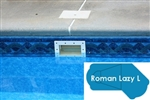 Complete 18'x45' Roman Lazy L  In Ground Swimming Pool Kit with Steel Supports