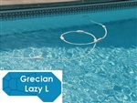 Complete 19'x46' Grecian Lazy L  In Ground Swimming Pool Kit with Steel Supports
