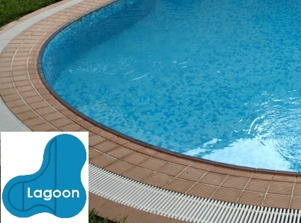 Complete 20x40x30 Lagoon InGround Swimming Pool Kit with Steel Supports