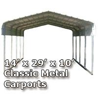 14'W x 29'L x 10'H Classic Metal Carport