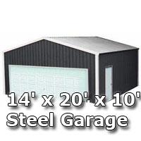 14 39 x 20 39 x 10 39 steel metal enclosed building garage for 24x30 garage cost