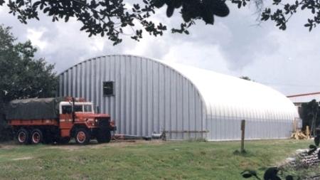 45 X 100 X 17 Steel Storage Pole Barn Building