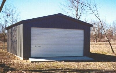 20 39 x 24 39 x 10 39 steel frame shed garage building kit for Building a two car garage