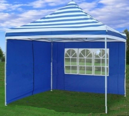 10 X 10 Pop Up White Amp Blue Striped Party Tent