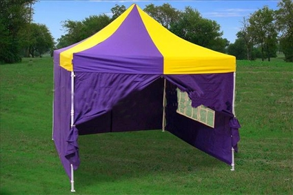 10 X 10 Pop Up Purple Amp Yellow Party Tent
