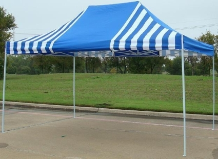 Make easy monthly payments over 3 6 or 12 months & 10u0027 x 15u0027 Blue u0026 White Stripe Pop Up Party Tent