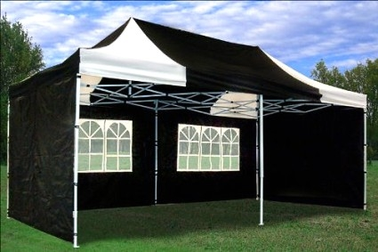 Ez Up Canopy 10x20 >> High Quality 10x20 Pop Up Canopy Party Tent Gazebo Ez Black White