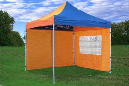 10x10 Pop Up Canopy Party Tent Gazebo Golden Blue