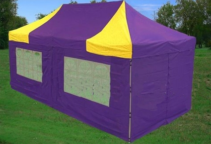 Purple Amp Yellow 10 X20 Pop Up Canopy Tent