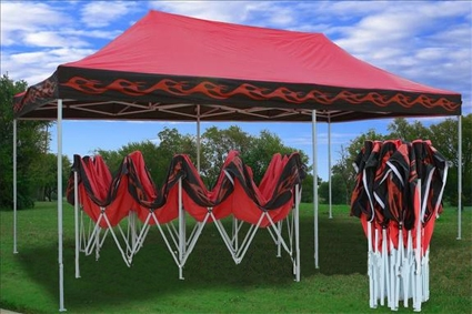 Red Flame 10 X 20 Pop Up Canopy Party Tent