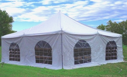 Make easy monthly payments over 3 6 or 12 months & Royal White 20u0027 x 20u0027 PVC Pole Party Tent