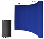 10' Blue Portable Pop Up Trade Show Booth Display Kit w/ Spotlights