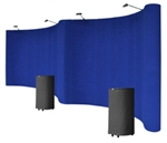 20' Blue Portable Pop Up Trade Show Booth Display Kit With Spotlights