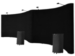 Professional 20' Black Portable Pop Up Trade Show Booth Display Kit w/Spotlights