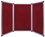 6ft Red Tabletop Folding 3 Panel Trade Show Booth
