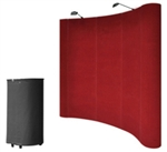8' Red Portable Pop Up Trade Show Booth Display Kit w/ Spotlights